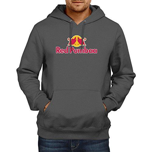 Texlab Red Pumbaa - Herren Kapuzenpullover, Größe L, grau
