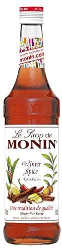 Monin Sirup Winter Spice I Weinachtsedition Ideal für Glühwein mit Zimt Nelken Piment 0,7l (Winter Spice) Monin Pumpkin Spice