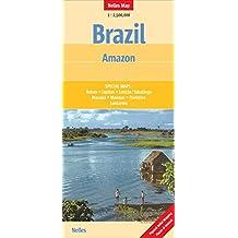 Brazil: Amazon 1 : 2.500.000: Länderkarte, zusätzliche Detailkarten (Nelles Map)