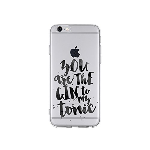 licaso Apple iPhone 6 Handyhülle Smartphone Apple Case aus TPU mit You Are The Gin to My Tonic Love Print Motiv Slim Design Transparent Cover Schutz Hülle Protector Soft Aufdruck Lustig Funny Druck