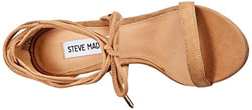 Steve Madden Presidnt, Scarpe Col Tacco con Cinturino a T Donna Beige (Sand)