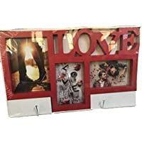de casa portafotos Multiple Love 3pvc Rojo