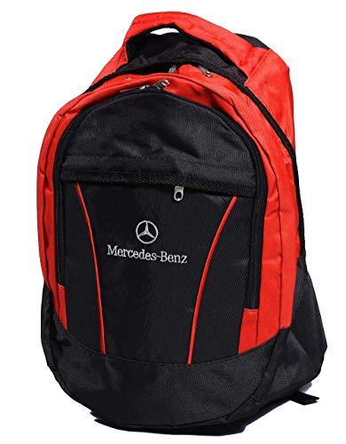 Mochila Unisex con Logo de Mercedes Benz, para Ocio, Escuela, Ocio, Oc