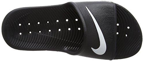 Nike Damen Kawa Shower Pantoletten Schwarz (Noir/Blanc)