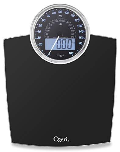 Ozeri rev Digital Bathroom scale with electro-mechanical Weight Dial (nero)