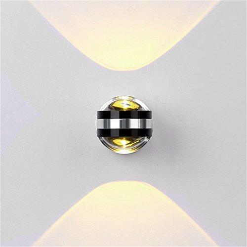 Lightess Led Wandleuchten innen Lampe Kristalllampe in Aluminium-6W Pure Fashion und Nizza Ambient Light, Beleuchtung Korridor, Eingang, Schlafzimmer, Dekoration, etc., Warmes Weiß