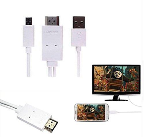 5-Pin- oder 11-Pin-Mikro-USB MHL zu HDMI, HDTV-Kabel, kompatibel mit allen Tablets oder Android-Smartphones mit MHL-Adapter weiß (Mikro-hdmi-adapter Für Android)
