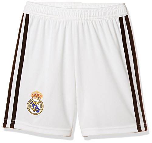 adidas Jungen Shorts 1/4 Real Home, Core White/Black, 164, CG0549