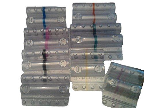 141f0103f4 Blister per monete euro - Kit 160 blister portamonete tagli assortiti (20  pezzi per taglio euro)