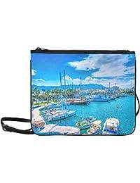 Main Port Kos Island Greece Hdr Custom High-grade Nylon Slim Clutch Bag Cross-body Bag Shoulder Bag