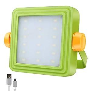 Foco Proyector LED Portátil GOSUN, Luz de Trabajo Recargable para Exteriores de 10W con Batería de 8800mAh y Indicadora, 5 Modos, Foco para Acampamento, Trabajo, Reparación de Automóvil