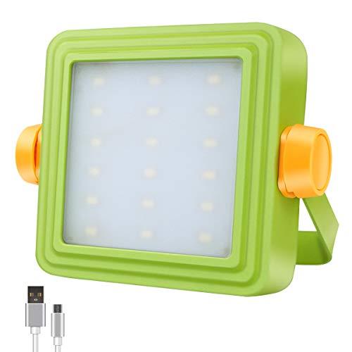 GOSUN Lampada da lavoro portatile a LED, luce di inondazione esterna ricaricabile da 10W con batteria e indicatore 8800mAh, 5 modalità, proiettore per campeggio, lavoro, riparazioni auto