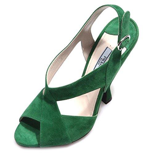 86330 sandalo PRADA CAMOSCIO verde scarpa donna shoes women Verde