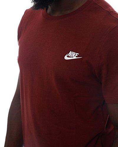 Nike Herren Club Embroidered Futura T-Shirt DARK TEAM RED/WHITE