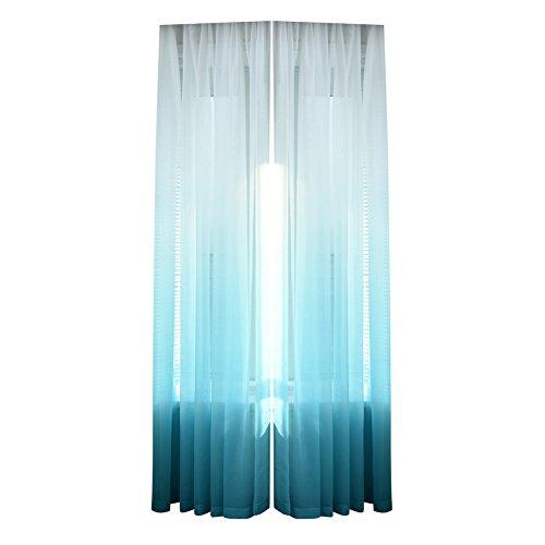 Amazingdeal365 Schal Vorhang Flugfensterdeko Voile Gardinen Schal 2m *1 m Set für Tür Schlafzimmer Wohnzimmer Kinderzimmer Balkon Terasse Spielzimmer (Blau)