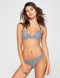 Iris & Lilly Women's Classic Gingham Bikini Top
