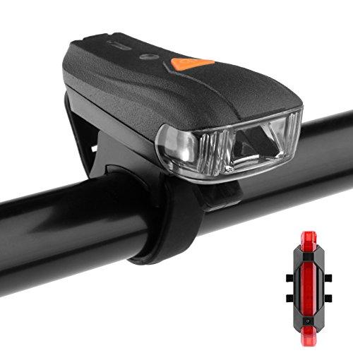 LED Fahrradlicht, Wasserdicht Fahrradlampenset 5 Licht-Modi, LED Fahrradbeleuchtung Set LED Frontlichter und Rücklicht LED Fahrradlampe Deutschland StVZO Zugelassen LED Fahrradlampe Intelligente Lichtsteuerung