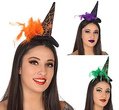 ATOSA Hut Hexe Mini mit Federn. - Halloween, Sombreros, Gorros, Cascos y Diademas (Halloween Disfraces Hexe)
