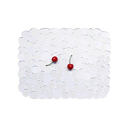 Tapis d'évier de cuisine, mat de base d'évier Tapis d'égouttement de galet pour le séchage de plat 30 * 40cm (clair)