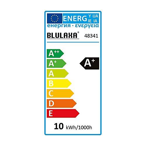 Blulaxa LED Filament Lampe Birnenform 10 Watt E27 warmweiß, Glas (klar) CRI > 90 EEK: A+