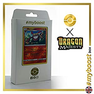 Darmanitant 9/70 Holo Reverse - #myboost X Sun & Moon 7.5 Dragon Majesty - Box de 10 cartas Pokémon Inglesas