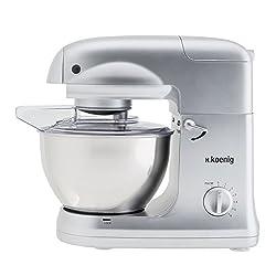 H.Koenig H. Koenig KM68 Multi-Functional Stand Mixer, 5 Litre, 1000 W, Silver