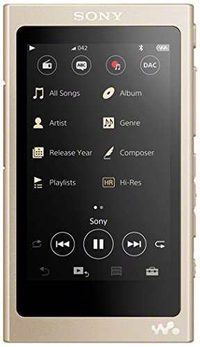 Sony NW-A45R High Resolution Walkman MP3 Player (16GB, Touchscreen, Digitalverstärker, Bluetooth, NFC, Hi-Res, bis zu 45h Akku) gold