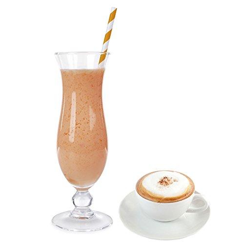 Cappuccino Geschmack Eiweißpulver Milch Proteinpulver Whey Protein Eiweiß L-Carnitin angereichert Eiweißkonzentrat für Proteinshakes Eiweißshakes Aspartamfrei (200 g)