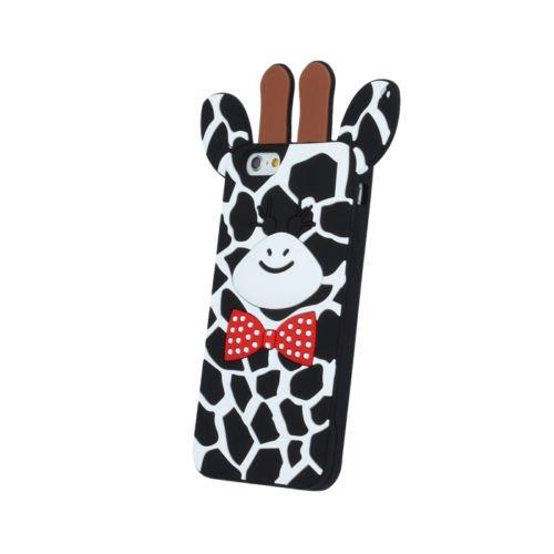 BACK CASE 3D Giraffe 2 Für Apple iPhone 5 iPhone 5S iPhone 5G iPhone 5SE Silikonhülle Hülle Etui Flip Cover Silikon Tasche (rosa / pink) schwarz / black
