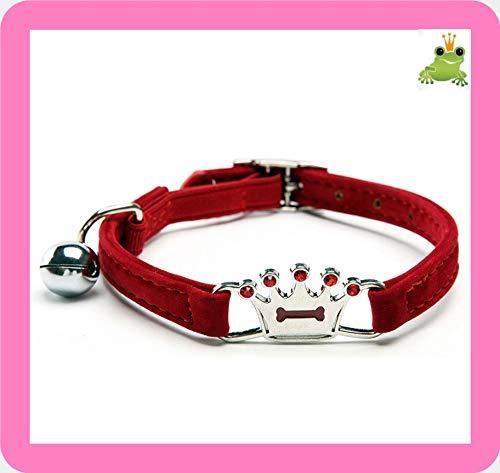 Sonic Halskette Elegante Diamond Krone Rote Hund Halsband Glitzerfrosch -