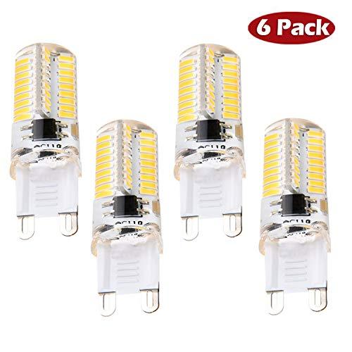 G9 LED Birnen, Dimmbare 4 Watt Warm Weiß LED Glühbirnen Bi-Pin Sockel (35W Halogen G9 Glühbirnen gleichwertig), AC 230V für Deckenleuchten, Kronleuchter, Innenbeleuchtungen (4er Pack) - Bi-pin-halogen-sockel