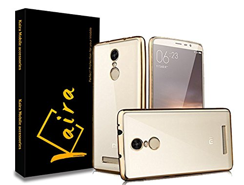 Kaira electroplated_Redminote3 Bumper Back Case Cover For Xiaomi Redmi Note 3  available at amazon for Rs.165