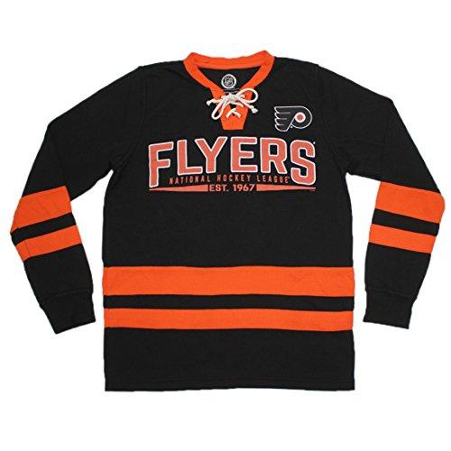 Philadelphia Flyers NHL Herren Athletic Long Sleeve Hockey Sweatshirt, Herren, schwarz (Herren Philadelphia T-shirt Flyers)