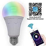 Lampadina intelligente Wifi Luce No Hub richiesto, lampadina controllo vocale magica Hue E26 (40W Equivalente) lampadina multicolore LED dimmerabili, compatibile con Alexa Home page di Google Siri