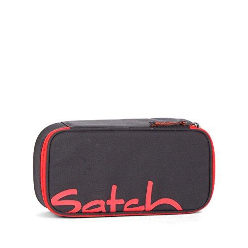 Satch by Ergobag Schlamperbox Coral Phantom 615 grau neon coral
