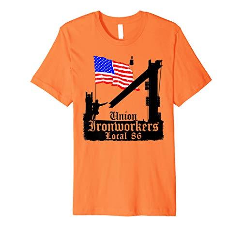 Union Ironworkers lokale 86Seattle American Flag Tee