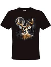 Ethno Designs Wildlife - Whitetail Wilderness - Animaux Sauvages - Cerf T-Shirt pour Femmes et Hommes - regular fit