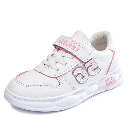 Gasgff Sportschuhe, Kinderschuhe Velcro Kind Freizeit Kleine Weiße Schuhe Herbst Winter Kind Männer Und Frauen Atmungsaktiv Weiche Unterseite,Rosa,20cm -