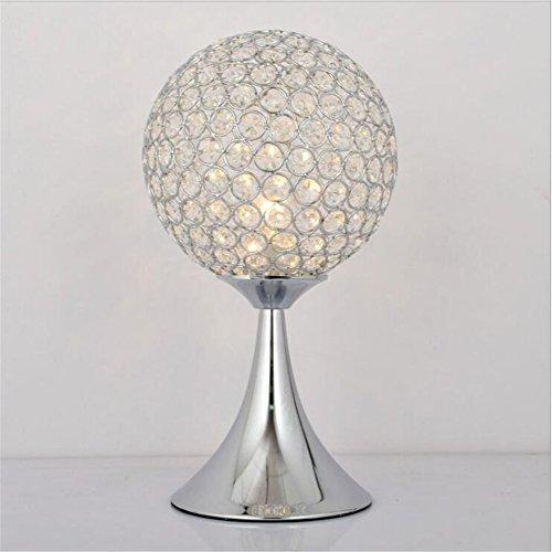 - Chrom-kristall-tisch-lampe (TRADE® Tischleuchte Kristall Runden Tischleuchte Beleuchtung Lampen mit K9 Kristall und Chrom Finish Metallbasis für Schlafzimmer Wohnzimmer Studierzimmer (Silber))