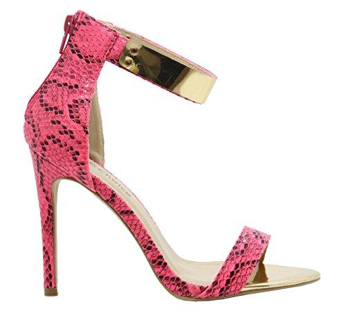 à Pink cheville Brides Snake Saute la femme Rose Styles vwfEZqag