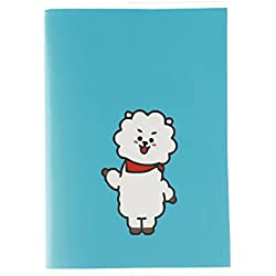 yovvin BTS Cuaderno 60hojas Ordenador Portatil para notas y dibujar | Van/Cooky/koya/RJ-45/Mang/shooky/Tata/chimmy | mejor regalo para The Army, color RJ 13 x 9.5 cm