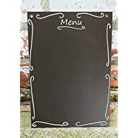 A3 Chalkboard Ornate Menu Shabby Chic Blank Large Blackboard 42cm x 30cm
