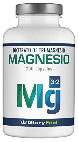 Magnesio - 200 cápsulas con el mejor citrato de magnesio - 2400 mg (360 mg de magnesio...