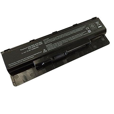 Batteria 6 celle A32N56 5200mAh 10,8V compatibile con notebook Asus
