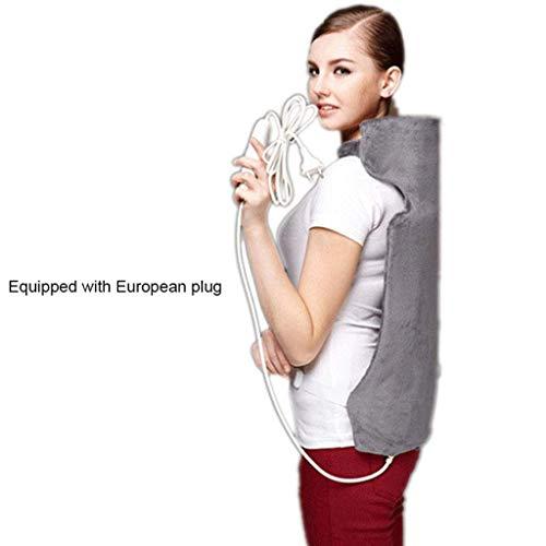 SUP GCF Heizung Elektroheiztuch, tragbarer elektrischer Rückenwärmer, 3 Heizstufen, Überhitzungsschutz und automatisches Abschalten für 90 Minuten (grau)