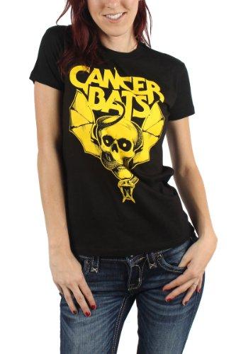 Cancer Bats, con teschio Snake-Maglietta da donna nero X-Large