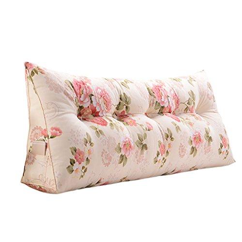 Creative Light-Kissen Rückenlehnen Kissen Dreieck Lendenwirbel Kissen / Sofa Kissen / Luxus Back Taille Support Kissen ( Farbe : Pink , größe : 120*50*20cm ) -