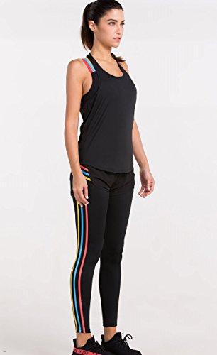 Cody Lundin Loose Sleeveless Fitness Women's Shirt Chemise à manches courtes pour femme black-c