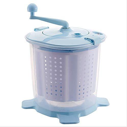 Yyqtxyj Mini-Handwaschmaschine, mechanisch Eingebauter Kerngriff Abnehmbarer Entwässerungskorb Machen Sie das Waschen schneller und bequemer. (Color : Blue)