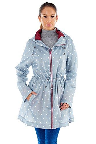 Pro Climate Damen Parka Regenjacke blau blau Gr. L, Spot - Silver/Grey -
